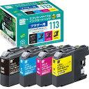 エコリカ ecorica ECI-BR113-4P 互換プリンターインク ブラザー用 4色 プリンターインク ECIBR1134P 【rb_pcp】