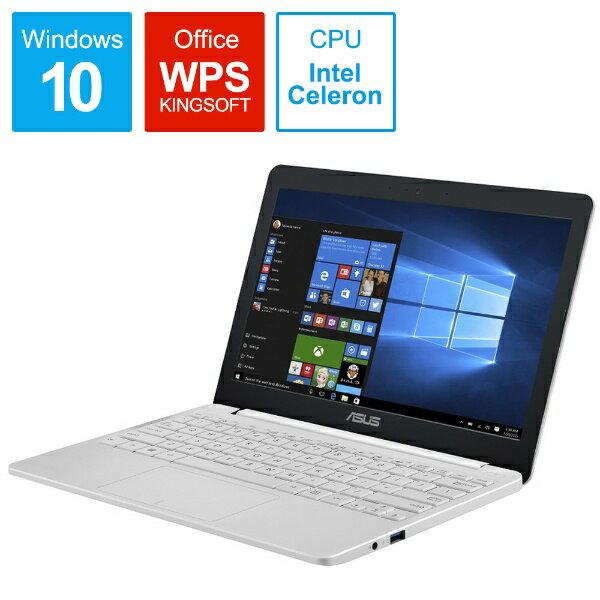 【送料無料】 ASUS エイスース E203MA-4000W ノートパソコン パールホワイト [11.6型 /intel Celeron /eMMC:64GB /メモリ:4GB /2018年6月モデル]