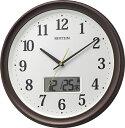 リズム時計 RHYTHM 温湿度計付電波掛け時計 「フィットウェーブリブA02」 8FYA02SR06