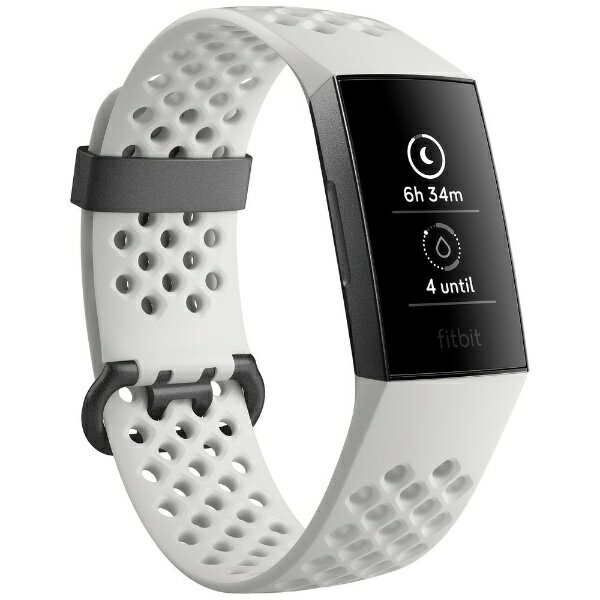 FITBIT フィットネストラッカー fitbit charge 3 Special Edition White Sports Band/Graphite Aluminium L/Sサイズ FB410GMWT-CJK フロストホワイト スポーツベルト/グラファイト[FB410GMWTCJK]