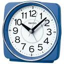 セイコー SEIKO 目覚まし時計 【スタンダード】 青メタリック KR335L [アナログ /電波自動受信機能有]