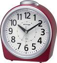リズム時計 RHYTHM 目覚まし時計 フェイス645 赤メタリック色(白) 8RA645SR01 [アナログ]