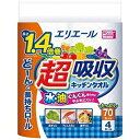 大王製紙 Daio Paper エリエール超吸収キッチンタオル4ロール70カット