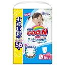 大王製紙 GOON(グーン)パンツまっさらさら通気Lサイス(9kg-14kg) 56枚 女の子用〔おむつ〕