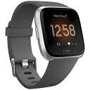 Fitbit フィットビット FB415SRGY-FRCJK フィットネススマートウォッチ Versa ライトエディション L/Sサイズ チャコール/シルバーアル..
