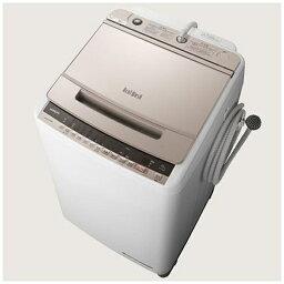 日立 HITACHI BW-V100E-N 全自動洗濯機 <strong>ビートウォッシュ</strong> シャンパン [洗濯10.0kg /乾燥機能無 /上開き][<strong>ビートウォッシュ</strong> 洗濯機 <strong>10kg</strong> BWV100E]
