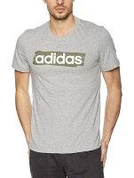 アディダス adidas トレーニングウェア CORE リニアグラフィックTシャツ メンズ Oサイズ (ミディアムグレイヘザー) FSR29の画像