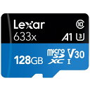 レキサー Lexar Lexar High-Performance 633x microSDXC UHS-I A1 U3 V30 128GB[LSDMI128BB1JP633A]