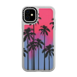CASETIFY <strong>ケースティファイ</strong> iPhone 11 6.1インチ Black Summer Palm Tree CTF-2829994-16000105