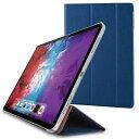 エレコム ELECOM 11インチ iPad Pro(第2世代)用 フラップカバー 背面クリア ソフトレザーフラップ 2アングル スリープ対応 ネイビー TB-A20PMWVNV