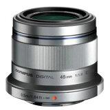 【】オリンパスM.ZUIKO DIGITAL 45mm F1.8【マイクロフォーサーズマウント】(シルバー)