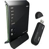 【】NEC【Windows8对应】无线LAN路由器(11ac(Draft)/n/a/g/b对应?母机&USB子机组套)USB棒组套模型AtermWG1400HP PA-WG1400H[【】NEC【Windows8対応】無線LANルータ(11ac(Draft)/n/a/g/b対応?親機&USB