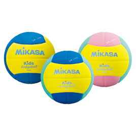 キッズドッジボール2号黄×ライトグリー運動用品/球技用品