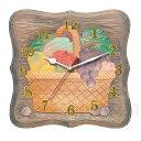 木彫かざり時計 DX型 しな材 あす楽対象 メール便不可 (木彫 木彫時計 夏休み 冬休み 自由研究セット 工作キット)