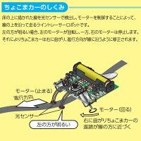 電子工作_ライントレーサー_ちょこまカー(基盤組立済)【物理/電気回路】