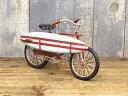 【カリフォルニアン サーフバイシクル(Surf Bicycle/8984)】ブリキカー ビーチクルーザー 自転車 ミニチュア ガレージ 自転車モチーフ 模型 コレクション フィギュア 自転車好き雑貨 湘南 サーフィン サーフ