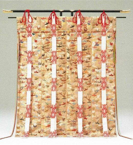 現品限り 総刺繍 千色千羽鶴 送料無料 代引手数料無料 中国手刺繍の第一人者「将雪英 しょうせつえい)」作千色を巧みに使い分け千羽の鶴を刺繍しています 現品限り 帷子 帳【RCP】
