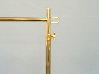 ハンガーラックプロS600オールゴールドイメージ3・高さ調整はネジ式で簡単!下がってこない