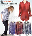 SUNDRY サンドリー チェック シャツ ギンガムチェック Sundry Button Up Shirt 【正規品】【送料無料】