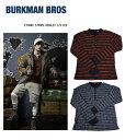 【セール価格】BURKMAN BROS (バークマンブラザーズ)ETHNIC STRIPE HENLEY L/S TEE  エスニック ロングTシャツ 長袖 トップス メンズ