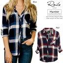 ☆LAST1 Sale☆Rails レイルズ ハンター ボタンダウン レディース チェックシャツ 長袖 Hunter check 100% US Rayon shirts 【正規品】【送料無料】【ギフトラッピング対応】 RWSP16550C