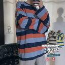 【期間限定クーポンで10%OFF】韓国 ファッション メンズ ロンT ロンティ 長袖ティーシャツ Tシャツ ボーダー ボーダーロンT ビッグシルエット ゆったり ボリューム袖 長袖 ロングスリーブ モード系 大きいサイズ S M L XL LL 2XL XXl