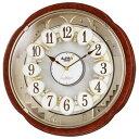 RHYTHM リズム時計 クロック 電波掛け時計 からくり時...