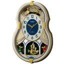 RHYTHM リズム時計 クロック 電波掛け時計 メロディ付 スモールワールドカラーズ 4MN543RH18