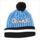 セール MITCHELL&NESS ミッチェル&ネス オーランド マジック ニットキャップ ニット帽 ビーニー ORLAND MAGIC (ブラック×ブルー)NEW ERA(ニューエラ)好きな方にも人気です