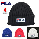 FILA フィラ ニットキャップ キャップ ニット帽 帽子 ビーニー KNIT CAP LOGO リブニットキャップ RIB ロゴ メンズ レディース