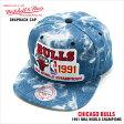 ミッチェル&ネス キャップ MITCHELL&NESS スナップバック シカゴ ブルズ CHICAGO BULLS 1990-1991 CHAMPION ACID WASH SNAPBACK アシッド デニム スナップバックキャップ マイケル ジョーダン JORDAN
