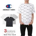 チャンピオン Tシャツ CHAMPION 総柄 メンズ レディース 大きいサイズ USAモデル リバースウィーブ ロゴ 半袖 t-shirts