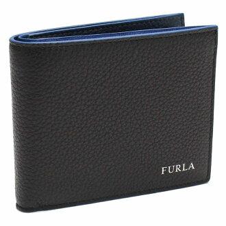 有furura(FURLA)MAN APOLLO 2個機會錢包硬幣袋的PQ37 827039 VMT OLS ONYX+LAPIS黑色