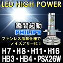 瞬間点灯 8000ルーメン【送料無料】PHILIPS 1年保証 LEDフォグランプ H7 H8 H1...