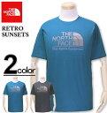 大きいサイズ メンズ THE NORTH FACE(ザ ノースフェイス) 半袖Tシャツ Retro Sunsets/USAモデル XL XXL 送料無料【コンビニ受取対応商品】