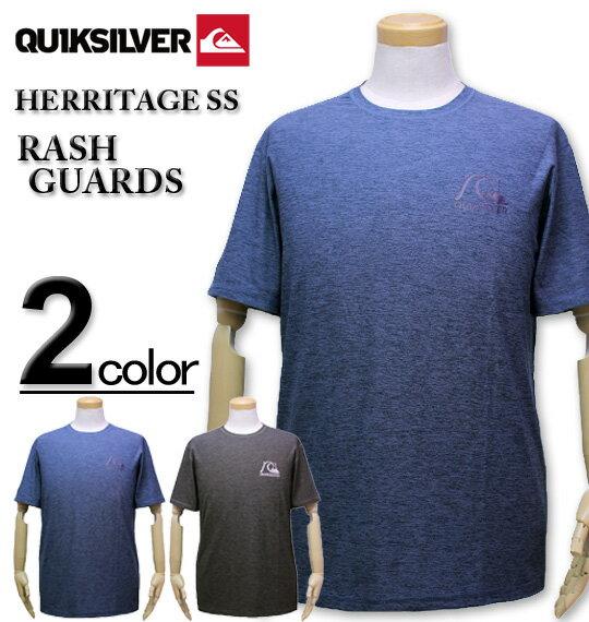 大きいサイズ メンズ Quiksilver(クイックシルバー) ラッシュガード 半袖Tシャツ ルーズフィット HERRITAGE SS/XXL 3XL 送料無料【コンビニ受取対応商品】