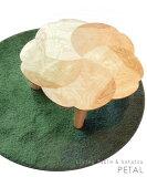 モダンスタイルのデザインテーブル 【日本製】桜のリビングテーブル(φ90cm) PETAL※ヒーターなし[Takatatsu] ペタル 折脚 ローテーブル ちゃぶ台 丸座卓 円型
