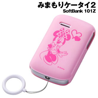 ☆ ◆ mimamori SoftBank mobile phone 2-101Z Disney characters and Silicon jacket Minnie RT-D101ZB/MN