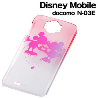☆ ◆ Disney docomo Disney Mobile (N-03E) private gradients, clear sparkles and Shell Jacket pink Mickey RT-DN03ED/MP fs3gm