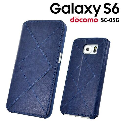 ◆ iStar docomo Galaxy S6 (SC-05G) 専用 手帳型レザージャケット ネイビー GS6-BG-NV【メール便送料無料】【激安メガセール!】【ギャラクシー/エスシックス/ケース/カバー/ジャケット/シンプル/スタンド/ICカード/ポケット/ダイアリー】
