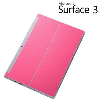 ☆ • Microsoft Surface3 私人背紋理膜/墊粉紅色 RT-SF3TF/P 10P20Nov15