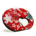 京都の小物 透かしコンパクトミラー ハート窓(にぎわい桜)