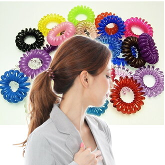 "Beauty hair spring Bobbles M 10 book set ""hair rubber / heaakuse / spiral / coil / スプリングヘアゴム / スプリングゴム."""