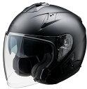 FH-003 TURISMOヘルメット マットブラック XLサイズ インナーバイザー付ジェットヘルメット FiORE:(フィオーレ)