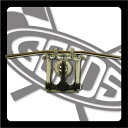 SR400/SR500(〜84年) ドラッグバー クローム AMAL364ホルダーブラック&ワイヤーセット GOODS(モーターガレージグッズ)