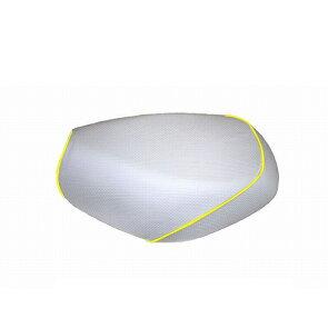 グロンドマンGH14HC280P100グロンドマン国産シートカバーエンボスホワイト/黄色パイピング張替リトルカブシートカバーリトルカブグロンドマンGH14HC280P100