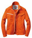 ショッピングORANGE BURTLE バートル 6081 長袖ジャケット オレンジ LLサイズ 春夏用 ユニセックス 上着 ブルゾン 制電ケア 作業服 作業着 ユニホーム 6081シリーズ