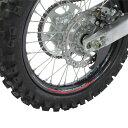 Z-Wheel W50-1303 リムステッカーキット レッド 赤 17-19インチ
