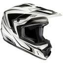 RSタイチ HJH123 HJC CS-MX2 エッジ オフロードヘルメット ホワイト ブラック Mサイズ 57-58cm ヘルメット