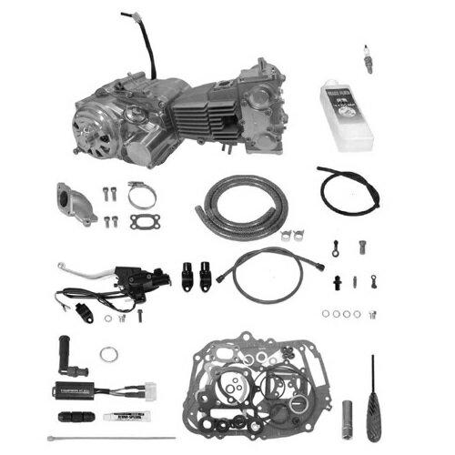 SP武川 タケガワ 01-00-9481 エンジンコンプリートキット DESMOツインカム4V 138cc セカンダリーキックスターター スーパーツーリング5速 カムシャフト25/25 スペシャルクラッチ タイプR DRY/スリッパー/油圧 モンキー/ゴリラ